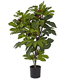 "Nearly Natural 32"" Artificial Fig Tree & Fruit"