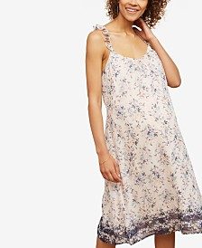 Motherhood Maternity Sleeveless Printed Dress