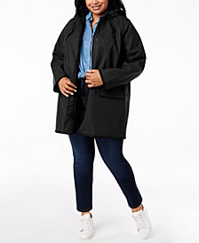 Levi's® Trendy Plus Size  Hooded Rain Jacket