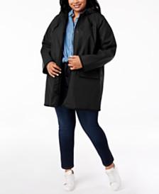 Levi's® Trendy Plus Size  Hooded Rain Jacket
