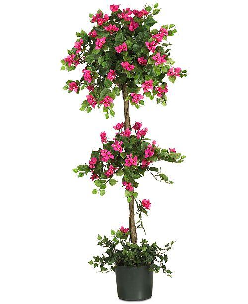 Nearly Natural 5' Artificial Mini Bougainvillea Topiary