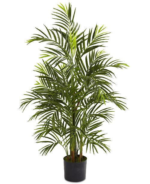 Nearly Natural 3.5' Artificial Areca Palm UV-Resistant Indoor/Outdoor Tree