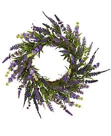 "18"" Lavender Artificial Wreath"