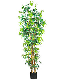 Nearly Natural 7' Artificial Curved Bamboo Tree