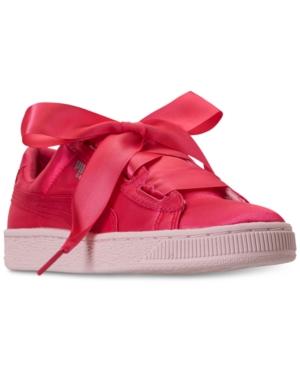 Puma Big Girls Basket Heart Tween Jr Casual Sneakers from Finish Line