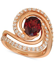 Le Vian® Pomegranate Garnet™ (2-1/3 ct. t.w.) and Diamond (3/4 ct. t.w.) Ring in 14k Rose Gold