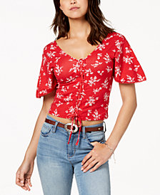 American Rag Juniors' Printed Kimono Top, Created for Macy's
