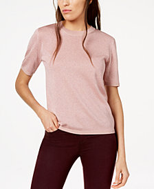Weekend Max Mara Short-Sleeve Shimmer Sweater