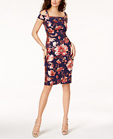 Thalia Sodi Cold-Shoulder Sheath Dress, Created for Macy's