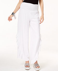 Thalia Sodi Ruffled Wide-Leg Pants, Created for Macy's