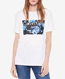 Calvin Klein Jeans Floral-Logo T-Shirt