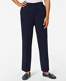 Alfred Dunner Royal Street Flat Front Pull-On Pants