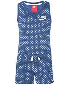 Nike Dot-Print Romper, Little Girls