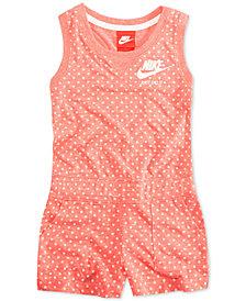Nike Dot-Print Romper, Toddler Girls