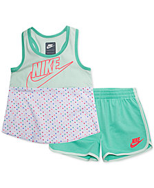 Nike Little Girls 2-Pc. Futura Colorblocked Tank Top & Shorts Set