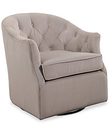 Pere Swivel Club Chair, Quick Ship