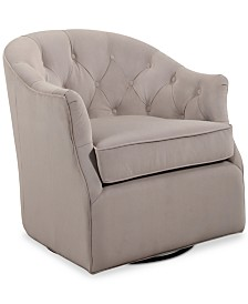 Pere Swivel Club Chair, Quick Ship
