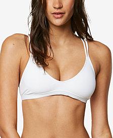 O'Neill Juniors' Salt Water Solids Strappy-Back Bralette Bikini Top