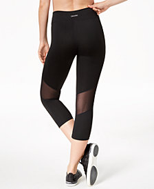 Calvin Klein Performance High-Rise Mesh-Inset Cropped Leggings