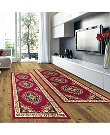 Prato Kerman Red 2-Pc. Runner Rug Set