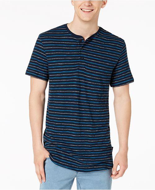 ed73ab29 Calvin Klein Jeans Men's Striped Henley T-Shirt & Reviews - Casual ...