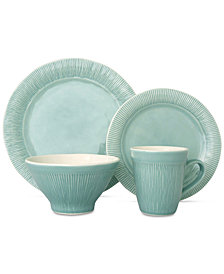 Sango Chromatic Aqua 16-Pc. Dinnerware Set