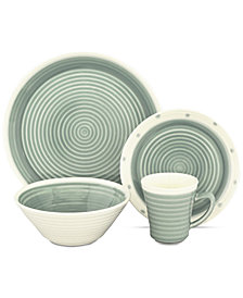 Sango Rico Aqua 16-Pc. Dinnerware Set