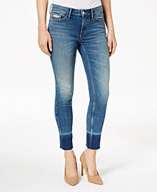 Calvin Klein Jeans Colorblocked-Cuff Skinny Jeans