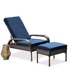 Suge 2-Pc. Outdoor Patio Set, Quick Ship