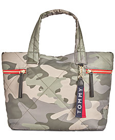 Tommy Hilfiger Kensington Camo Quilted Nylon Tote
