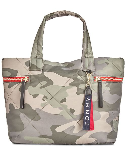 d45874cc0d Tommy Hilfiger Kensington Camo Quilted Nylon Tote. This product is  currently unavailable