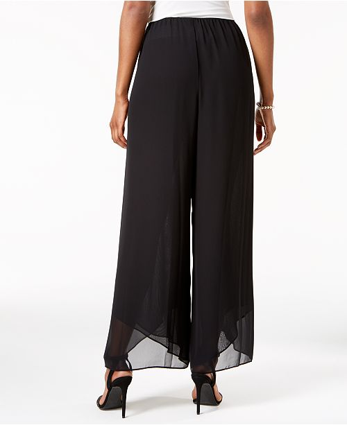 2321a35bcd7 Alex Evenings Wide-Leg Chiffon Pants - Pants   Capris - Women - Macy s