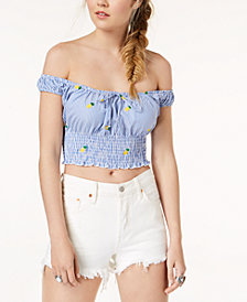 Polly & Esther Juniors' Off-The-Shoulder Crop Top