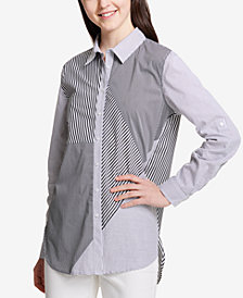 Calvin Klein Patchwork Button-Down Shirt
