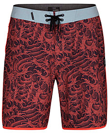 "Hurley Men's Phantom Kanpai Wave-Print 18"" Board Shorts"