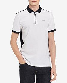 Calvin Klein Men's Contrast Zip-Up Polo