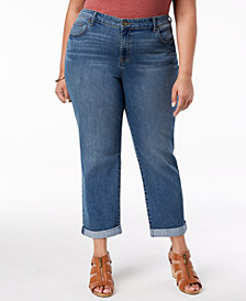 Style & Co Plus Size Boyfriend-Fit Jeans, Created for Macy's