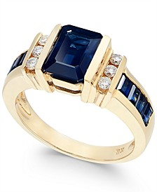 EFFY® Sapphire (2-1/4 ct. t.w.) and Diamond (1/6 ct. t.w.) Ring in 14k Gold(Also Available in Emerald)