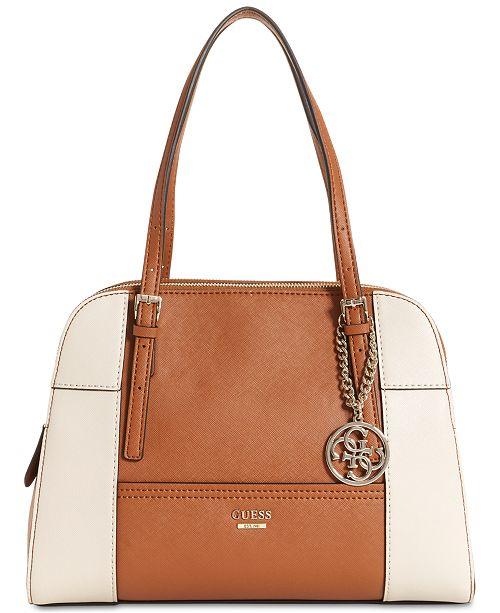 GUESS Huntley Medium Cali Satchel   Reviews - Handbags ... 55f7bfb97fd59
