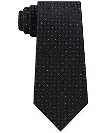 Calvin Klein Men's Clean Medallion Slim Silk Tie