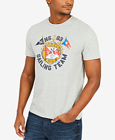 Nautica Men's Big & Tall Sailing Team Graphic-Print T-Shirt