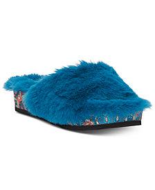 Jessica Simpson Gema Fur Slide Sandals