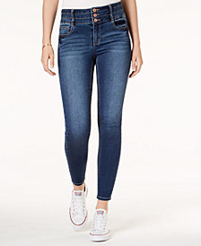American Rag Juniors' Triple-Button Skinny Jeans, Created for Macy's