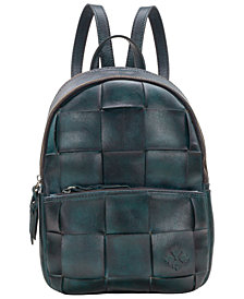 Patricia Nash Jacini Woven Leather Backpack, Created for Macy's