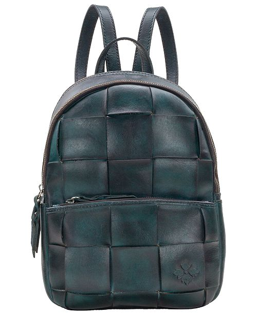 8710c55e9fc Patricia Nash Jacini Woven Leather Backpack, Created for Macy's ...