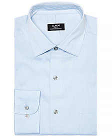 Alfani Men's Slim-Fit Performance Stretch Bedford Cord Solid Dress Shirt, Created for Macy's
