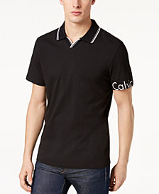 Calvin Klein Men's V-Neck Logo Polo