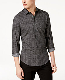 Calvin Klein Men's Chain Link Printed Shirt
