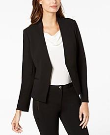 Petite Asymmetrical Open-Front Blazer