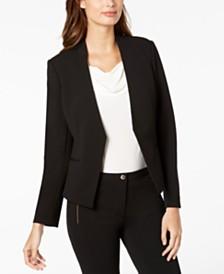 Calvin Klein Petite Asymmetrical-Front Blazer